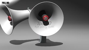double megaphone 3d model