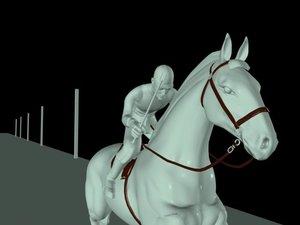 3d model realistic horse