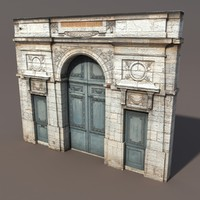 3d model ornate door modelled