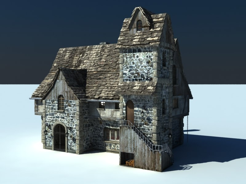 medieval german old 3d model