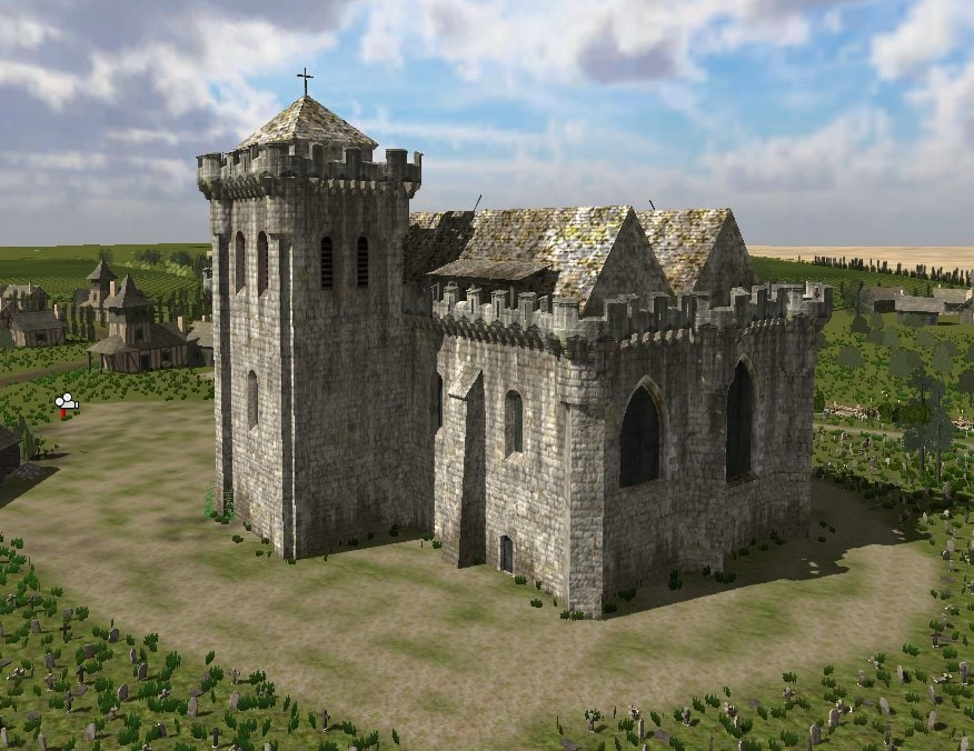 real fortified church 3d blend