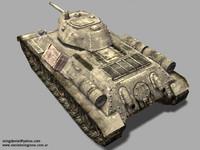 3d soviet t34 76 tank model