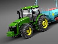 3d model john deere tractor