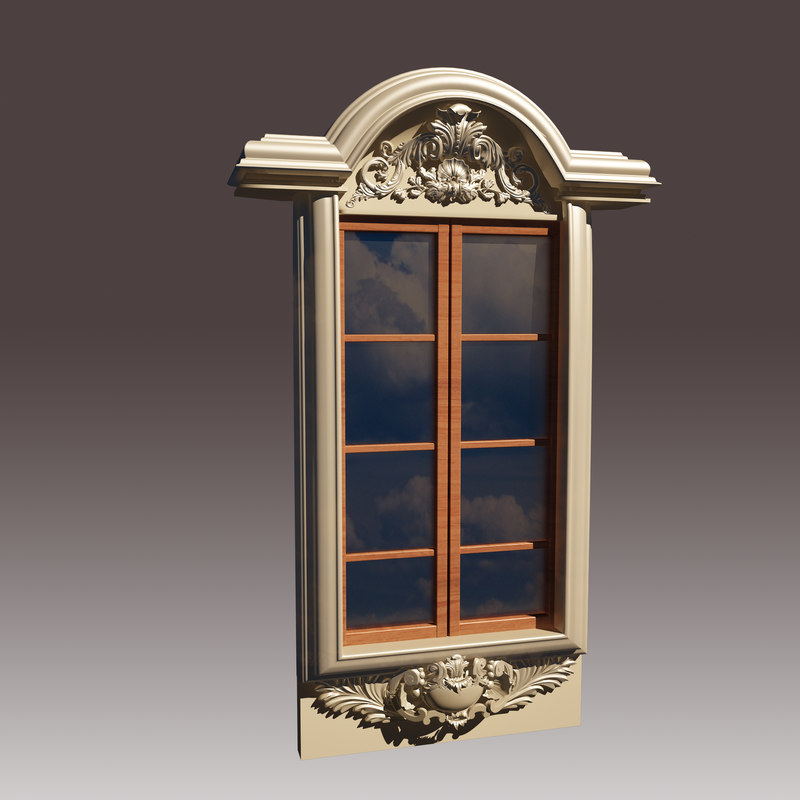 3d model window