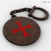 Templar keyring-pendant