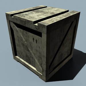 free wooden crate 3d model