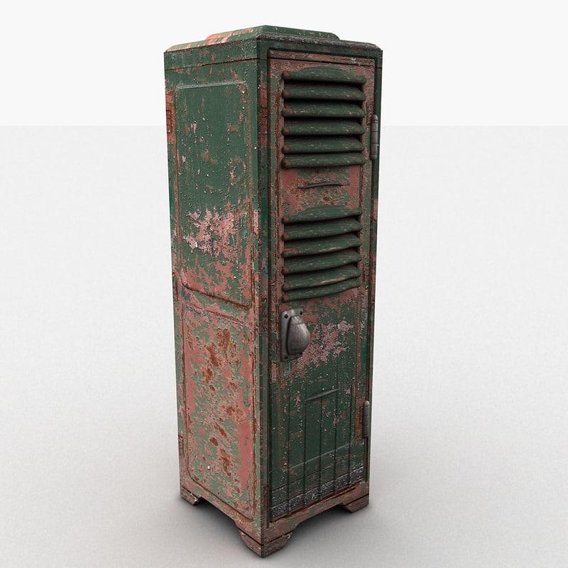 3d 3ds metal locker heavy
