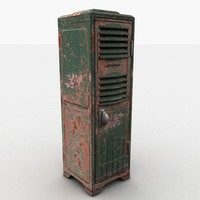 3d 3ds metal locker heavy
