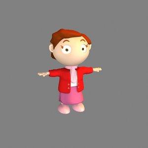 bairn homuncule cartoon 3d max