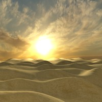 sunrise of desert