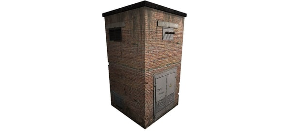 free old electric transformer 3d model