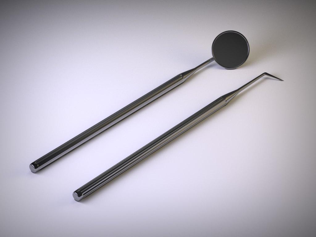 instrument modelled mirror 3d 3ds
