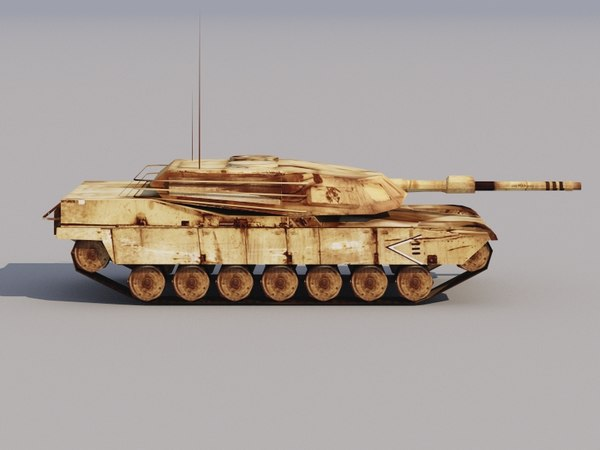 max abrams tank low-poly