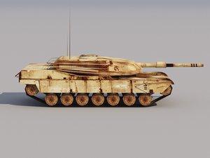 max abrams tank low-poly