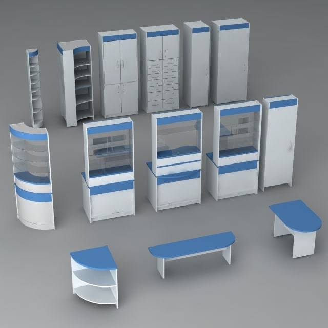 3d model pharmacy pack