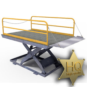 dock lift 3d max