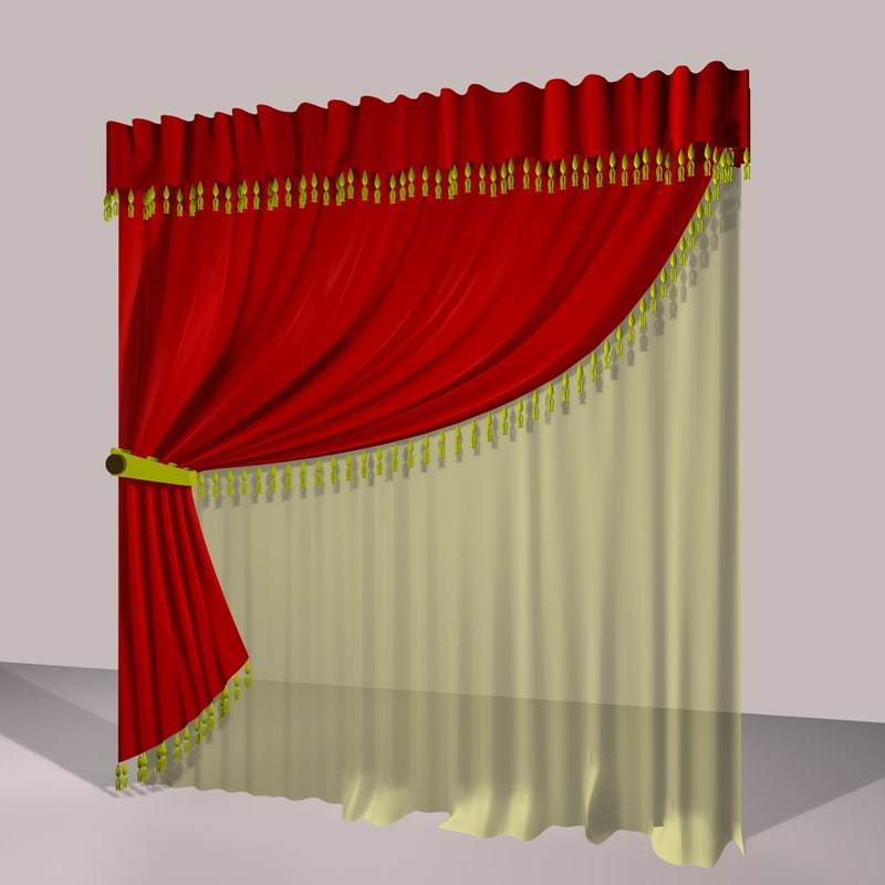 3ds max curtain 4