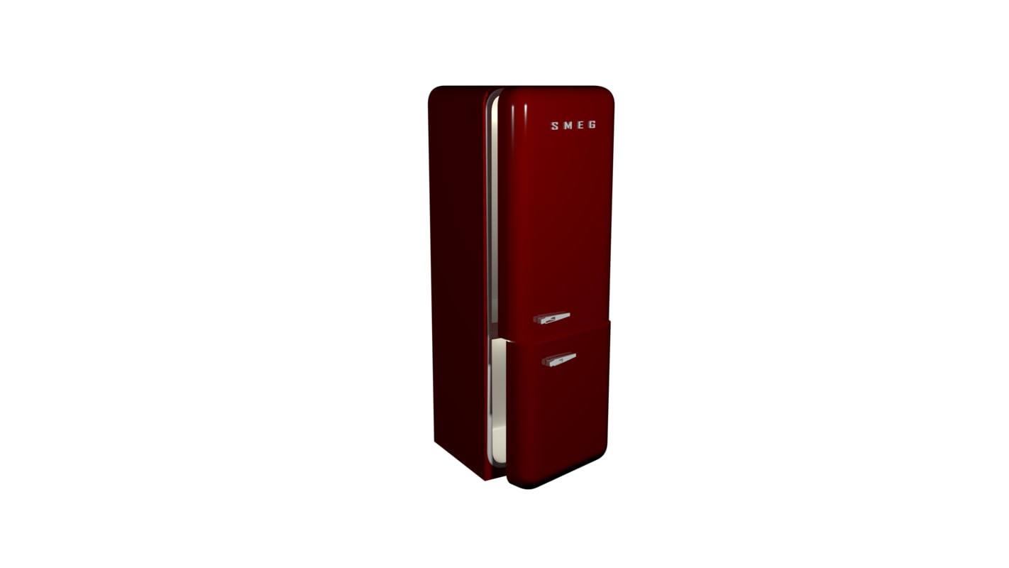 3d max red smeg fridge