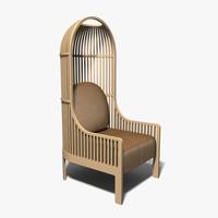 chair armchair autoban 3d model