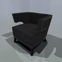 tub chair coach house 3d max