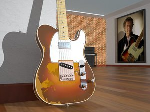 3d replic andy fender telecaster model