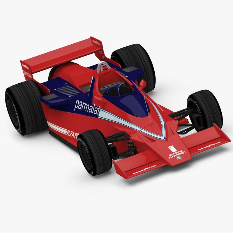 formula racing car brabham 3d max