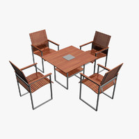 garden furniture set 3d max
