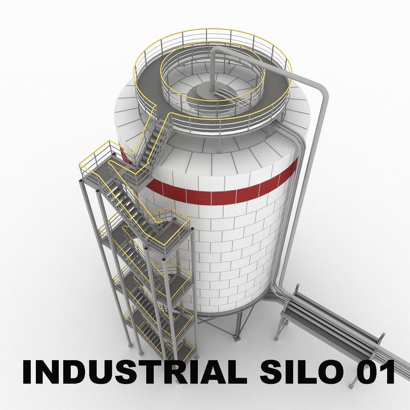 3dsmax industrial silo 01