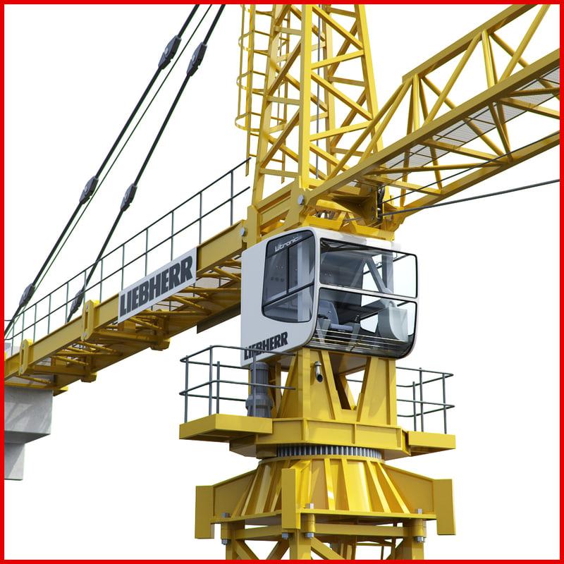 tower crane liebherr 280 3d model