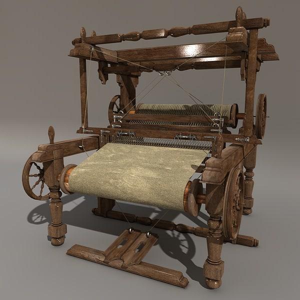 weaving loom 3d model
