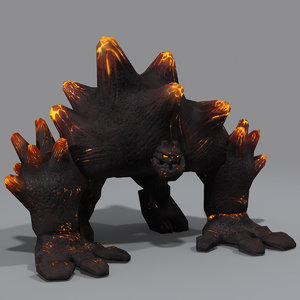3d model magma rigged