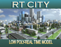 3d model city street los angeles