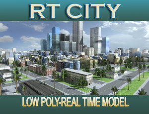 3d model city street los angeles