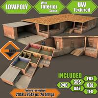 3d interior building model