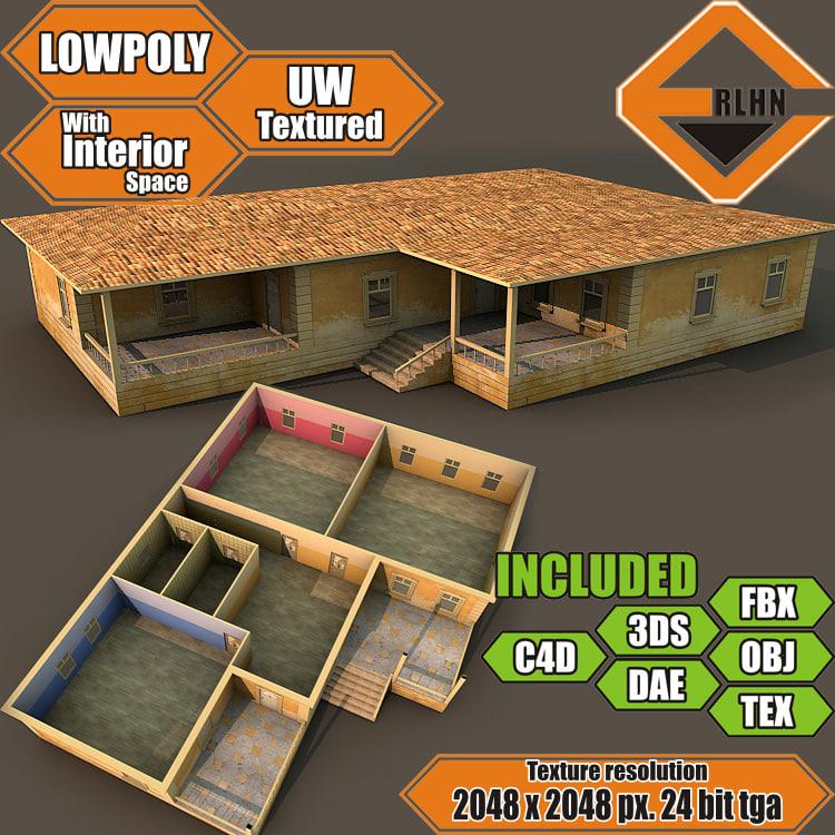 house interior building 3d model
