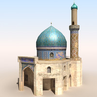 mosque 2 arab afghan 3d model