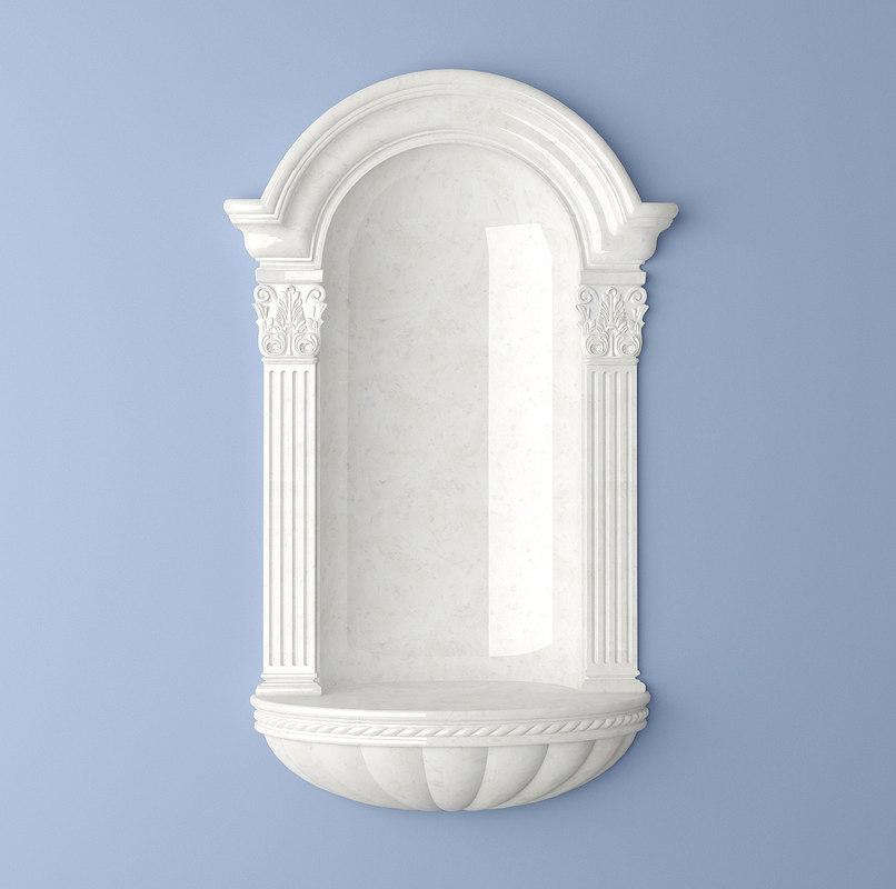 3ds max wall niche classic