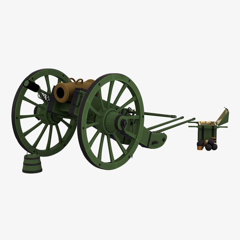 napoleons 6-inch gribeauval howitzer 3d model