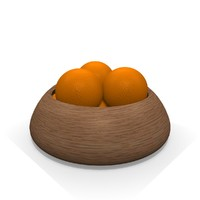 Orange Fruit Bowl
