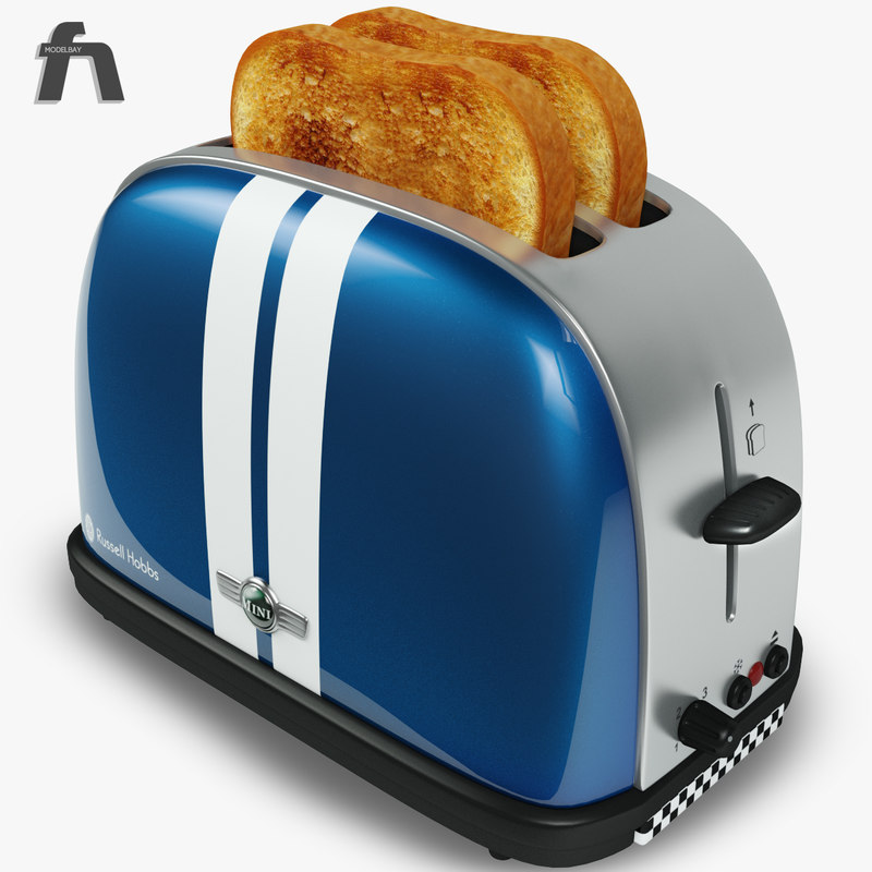 toaster russell hobbs toast 3d c4d