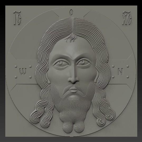 3d model relief orthodox icon spas