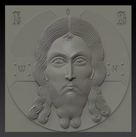 3d model relief orthodox icon spas