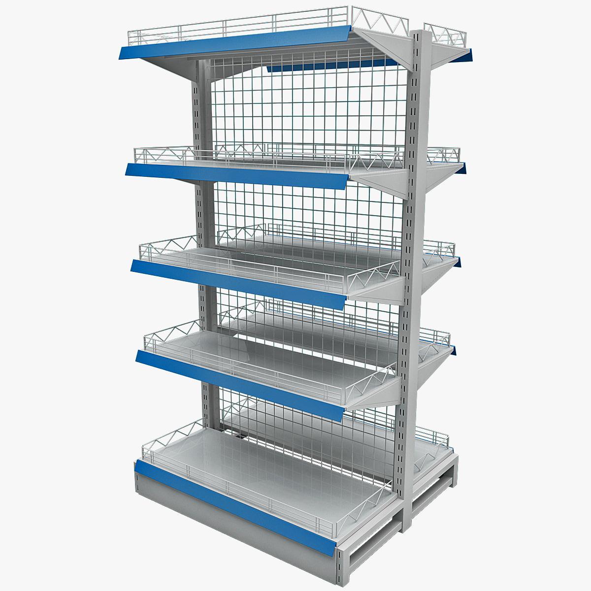 supermarket shelf v4 3d 3ds