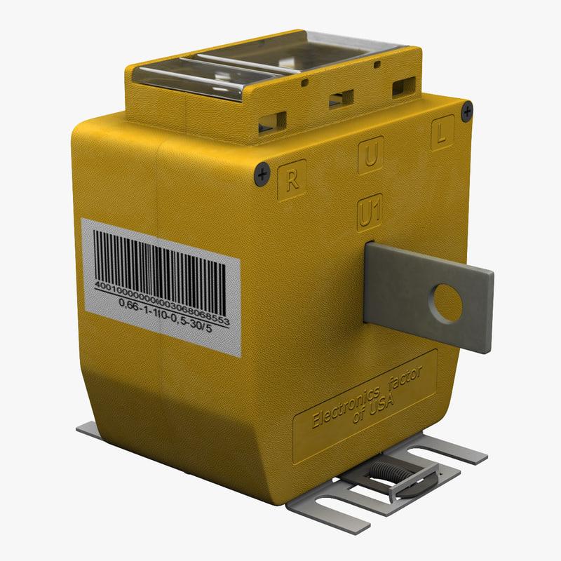 support type current transformer 3d model