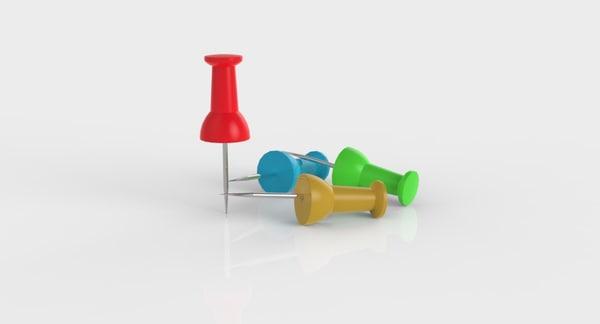 thumb pin 3d model