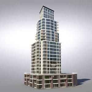 buildings vancouver architectural 3d model