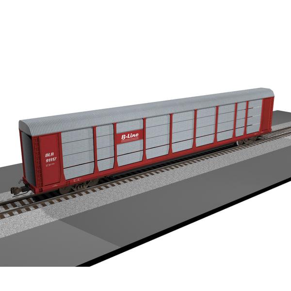 train car carrier 3d model