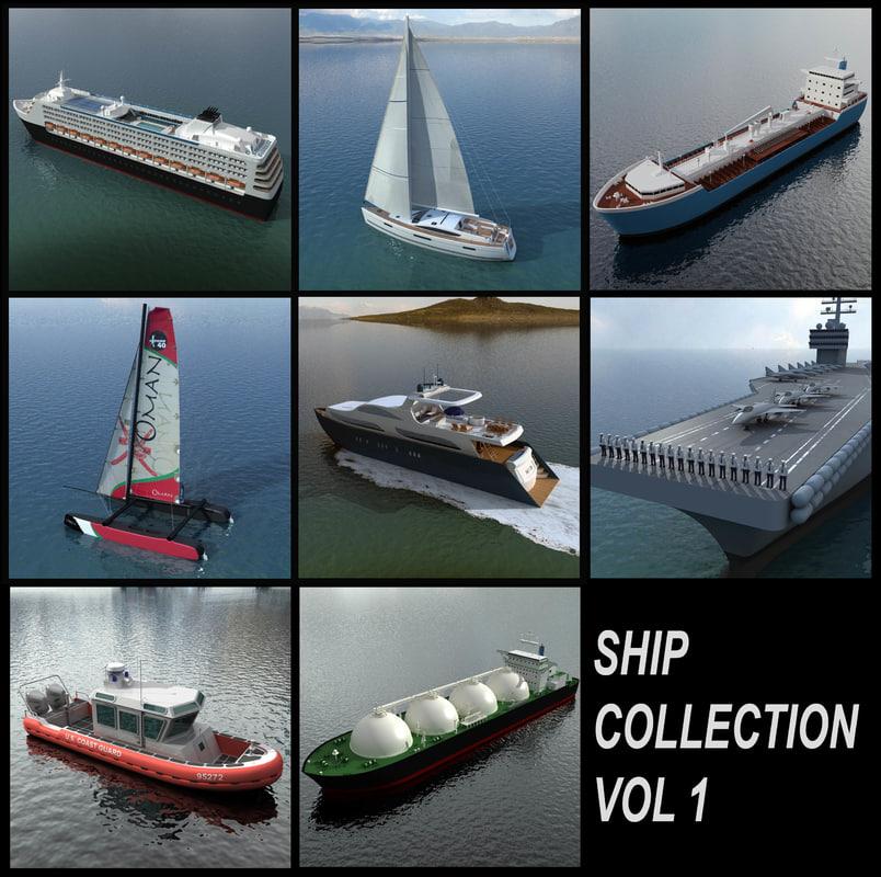 3d sailing yacht 1 ship
