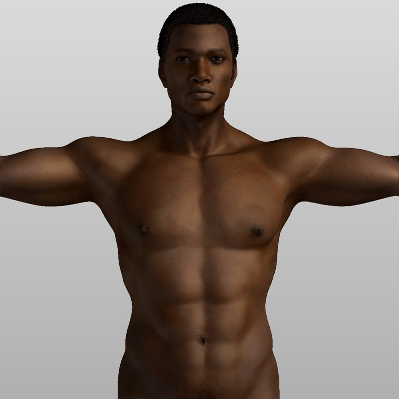 3d realistical afro man orpheus model