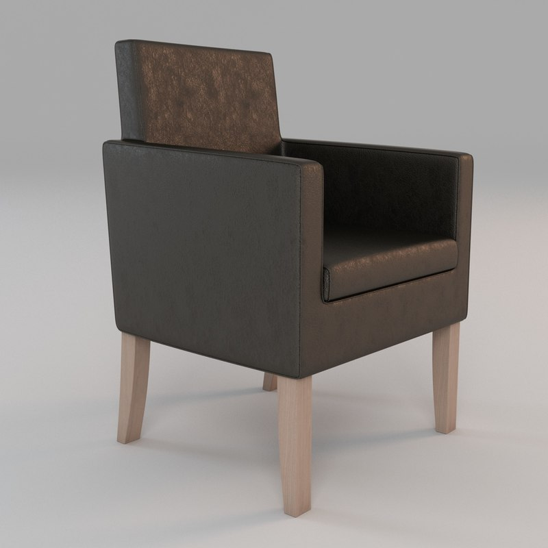 3d chair armchair leather model